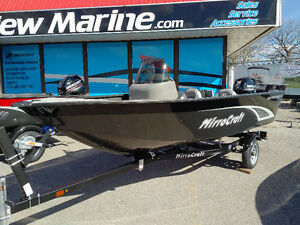 SALE : 2018 145SC-O Fishing boat w/20hp & trailer