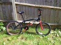 Xrated bmx hardly used,popped tyre (repairable)
