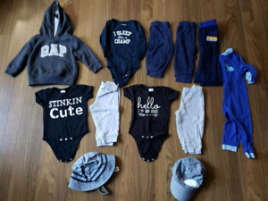 Boy 6-12 mths clothes pants gap sweater hat