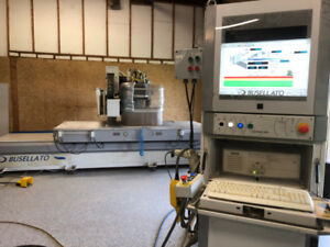 Busellato CNC Router with Sweeper Arm