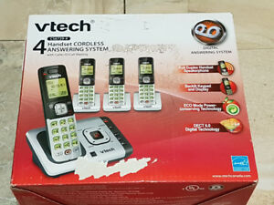 Vtech  Cordless Answering System With 4 Handsets and Caller ID