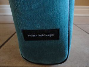 Melissa Beth green quilted laptop bag handbag New with tags London Ontario image 6