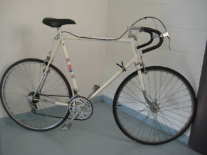 27'' bike race CCM  10 SPEED FRAME 35'' for a tall person tuned