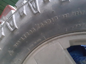 Goodyear Wrangler Duratrac LT295/65R18 Never used or TRADE for?