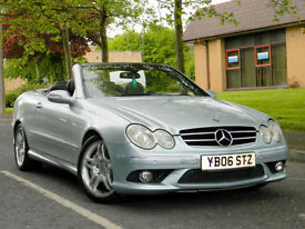 2006 06 Mercedes-Benz CLK 5.4 CLK55 AMG 2dr WITH FSH+SATNAV+H/K SOUND+MORE