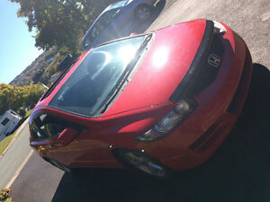 2011 Honda Civic Red Coupe (2 door)