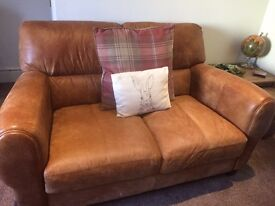 Matching 3 & 2 seater Italian leather sofas