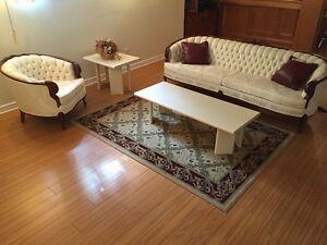 Elegant Provincial Style Couch Set, Impeccable!