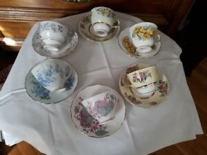 Collections of vintage Colclough cups/saucers $10 each