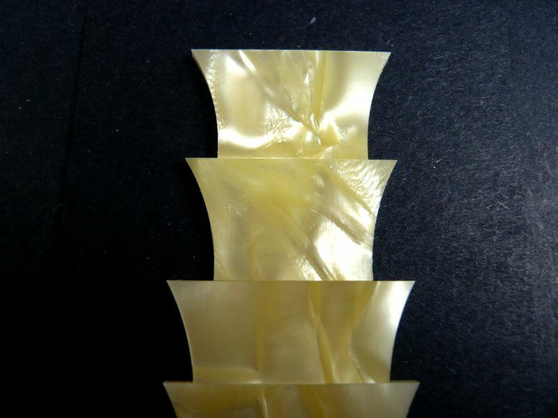 Trapezoid Crown Yellow Celluloid inlays for Les Paul guitar builders