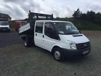 Ford transit tipper crew cab only 59k miles
