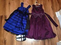 Two Christmas Dresses and Shoes $25