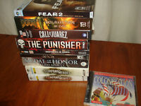 Lot of 10 PC Video War Adventure Games Medal of Honor +++
