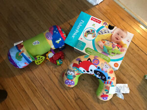 Fisher Price Tummy Pillow and Baby Einstein Crawling Pillow