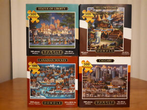 4 High Quality Dowdle Puzzles for $20