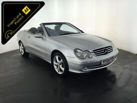 2004 MERCEDES CLK200 AVANTGARDE KOMPRESSOR AUTO CONVERTIBLE 163 BHP FINANCE PX