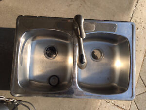 Stainless Steel Sink & Taps with Garburator