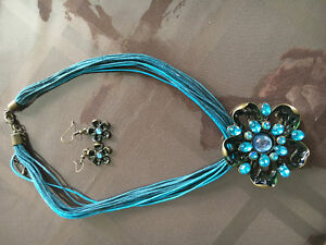 Necklace with matching earring