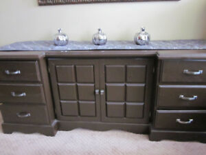 MCM CUSTOM Made Sideboard~By Local Carpenter In 1950s