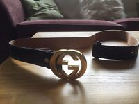 Gucci Belt black and gold edition! **MINT CONDITION**