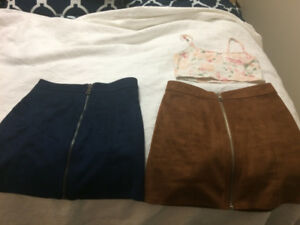 Two Forever 21 Suede Skirts - $20 Each OBO