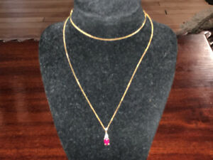 10K gold necklace and pendant