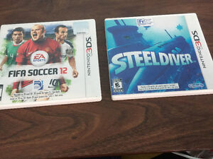FIFA 12, and SteelDivers for Nintendo 3DS