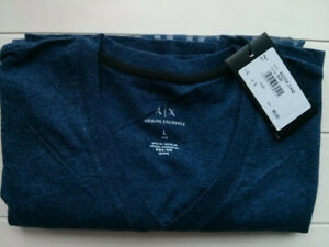 **BRAND NEW** Armani Exchange V-Neck Stamped Logo T-Shirt