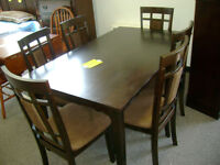 New table and six chairs $599.