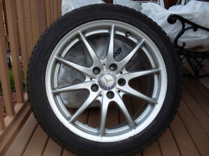 "Mercedes-Benz 17"" Factory Rims with Falken Eurowinter Snow Tires"