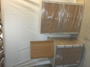 Brand new laundry oak cabinets, Frendal kitchen,