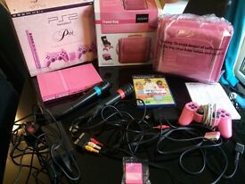 Pink slim ps2 and carry case