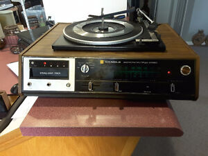 Vintage Candle multiplex stereo record player and 8 track