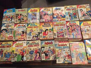 120 Archie comic books.