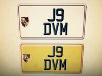 "Private Reg ""J9 DVM"" for sale"