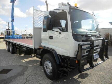 Isuzu FVZ1400 Rear mounted Crane Truck 6 X 4 Bogey Drive Welshpool Canning Area Preview