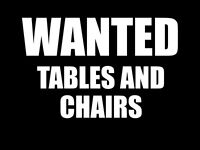 **Wanted** Tables and Chairs for Community Café