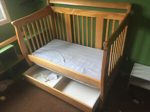 Convertible toddler bed.  Call cell