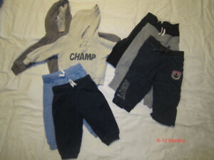 Boy's Sweats and Hoodies 6-12 Months