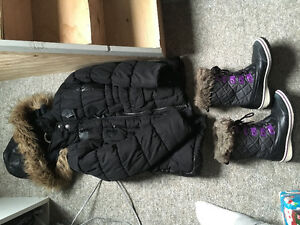 Boots and winter jacket