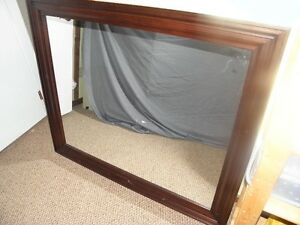 Large Mirror Framed in Chocolate Brown Wood
