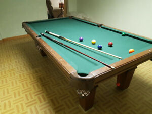 8 x4 ft slate pool table and accessories