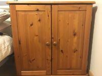 Pine computer desk/cabinet