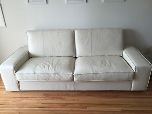 KIVIK sofa - white leather - MOVING SALE