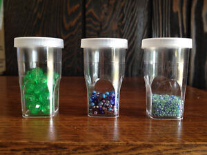 Dilu-Vials with Caps - PERFECT FOR BEADS, SEEDS OR JEWELRY