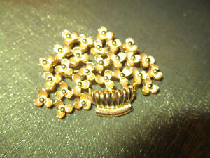 Gold Colored Brooch