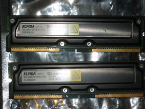 Elpida RAMBUS ECC RAM workstation/server memory modules