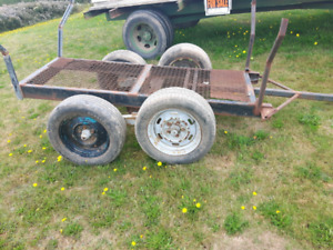 Pulp trailer and hay wagon.  Call or text 506 521-1070