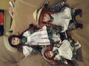 Anne of Green Gables porcelin dolls, 1 Diana,, 2 Anne's