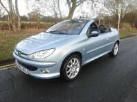 Peugeot 206 2.0 16v 2004/54 Coupe Cabriolet SE 54,000 miles stunning example